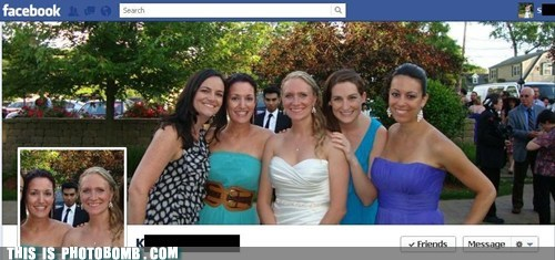 awesome facebook photobomb profile picture timeline wedding