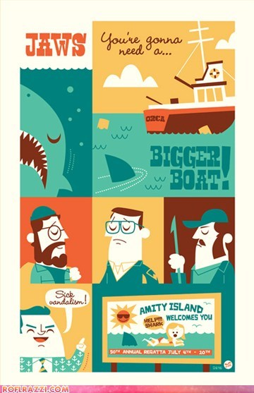 art cool funny jaws Movie poster - 6327884288
