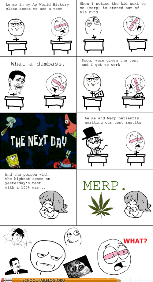 college tests rage comic stoned - 6327911936