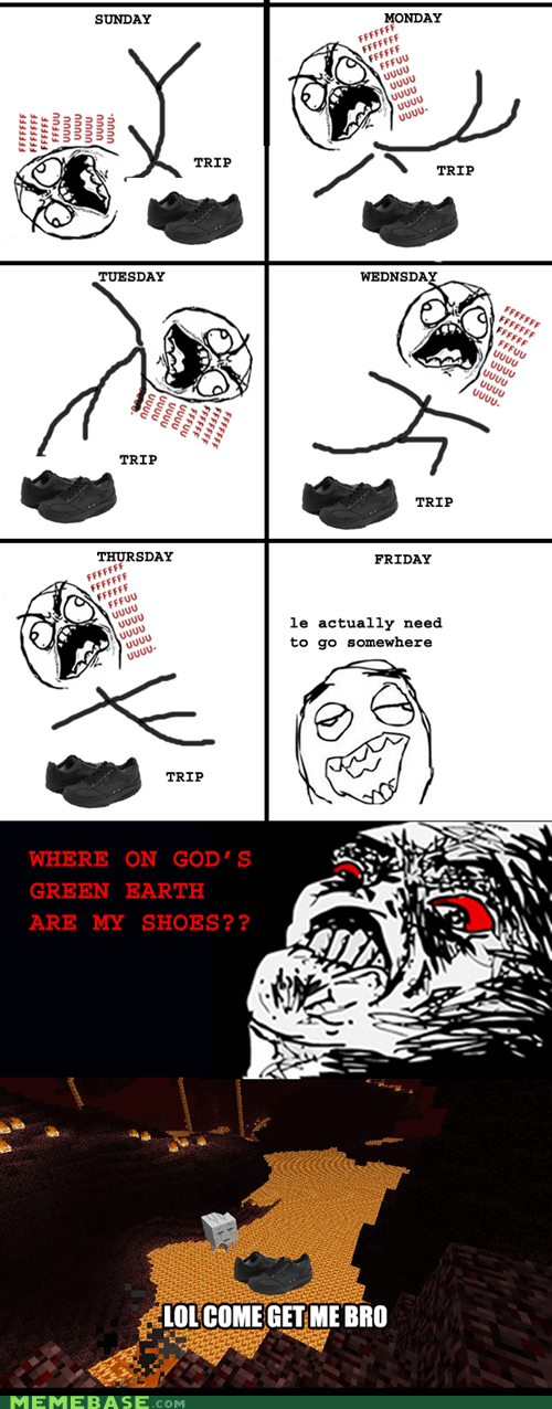 fu guy,missing,Rage Comics,shoes