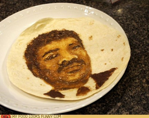art chocolate face peanut butter portrait tortilla