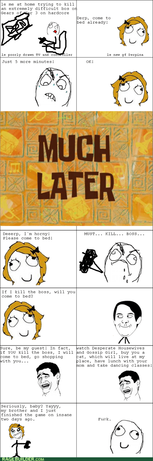 girlfriend,owned,Rage Comics,video games
