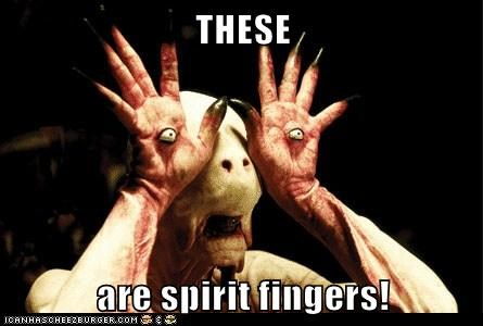 THESE are spirit fingers!