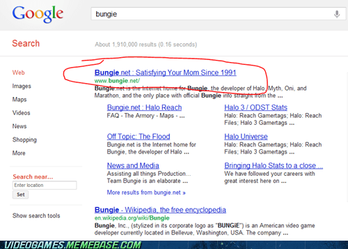 best game company,bungie,google,search,the internets