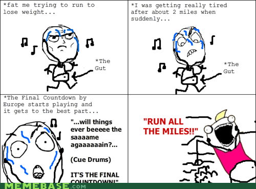 all the things,exercise,final countdown,Rage Comics