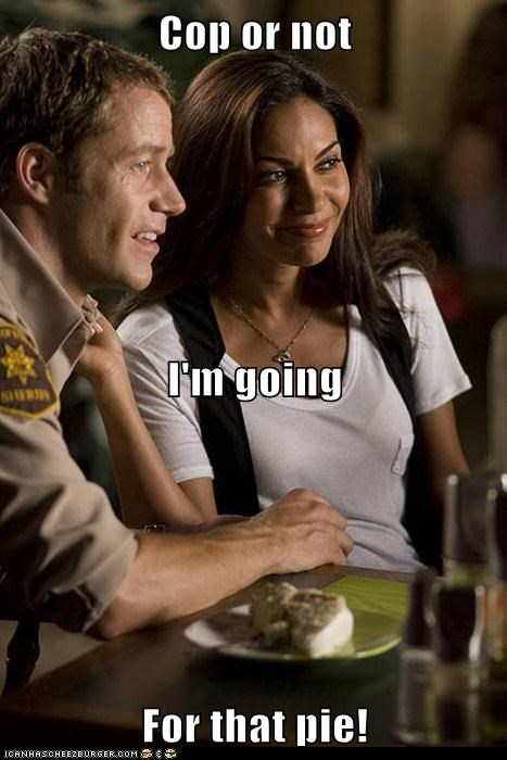 allison blake,Colin Ferguson,cop,damn fine,pie,salli richardson-whitfiel,salli richardson-whitfield,sheriff jack carter,Twin Peaks