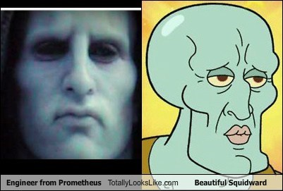 beautiful squidward,engineer,funny,Movie,prometheus,SpongeBob SquarePants,TLL
