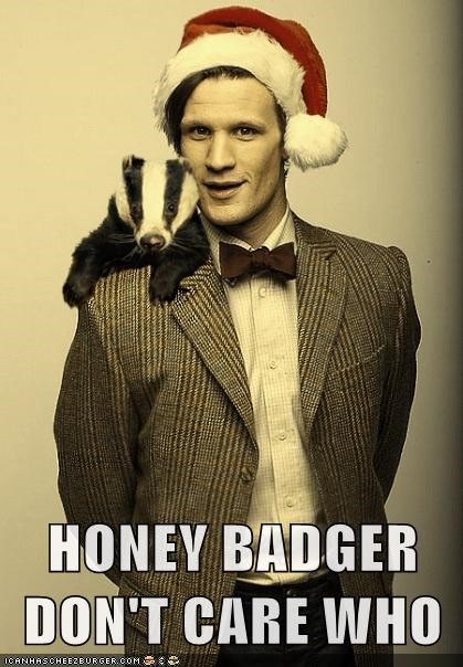 doctor who,honey badger,honey-badger-dont-care,Matt Smith,the doctor