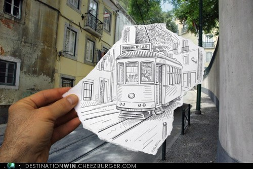 cable car drawing transportation