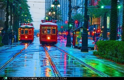 cable car rain transportation weather