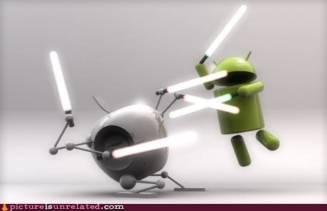 android apple iphone lightsabers Starwars wtf