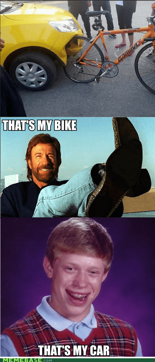 bad luck brian bike car chuck norris Memes - 6329157888