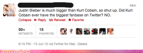 celeb funny justin bieber kurt cobain Music tweet twitter - 6329196032