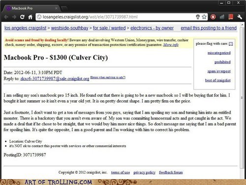 craiglist,homosecks,macbook,shoppers beware