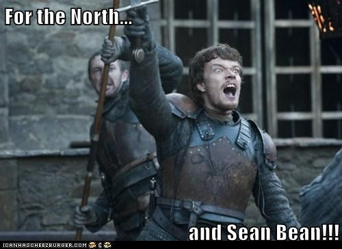 alfie allen,call to arms,fighting,Game of Thrones,rally,sean bean,the north,theon greyjoy