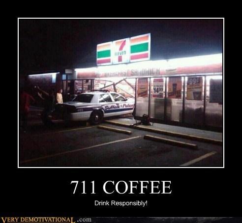 7-11 coffee cop drink responsibly idiots - 6329552640