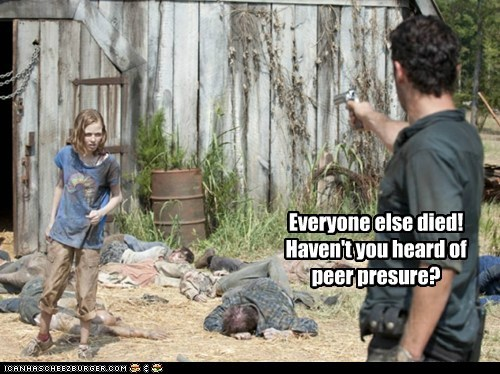Andrew Lincoln died peer pressure Rick Grimes sophia The Walking Dead zombie - 6329594624