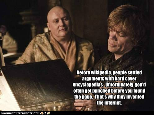 arguments,before,Game of Thrones,internet,invented,peter dinklage,punching,story,tyrion lannister,wikipedia
