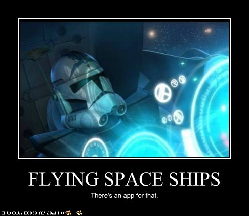 flying,space ships,star wars,stormtrooper,theres-an-app-for-that