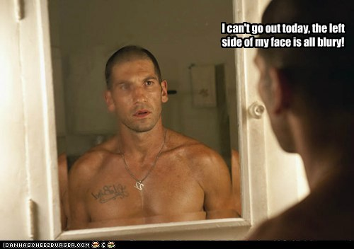 blurry cant-go face Jon Bernthal left mirror shane walsh The Walking Dead - 6329730304