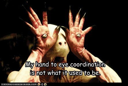 creepy eyes hand-eye coordination monster pans-labyrinth used to be