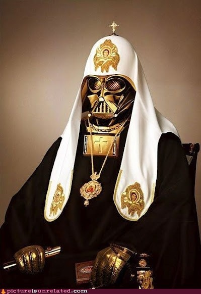 best of week,darth vader,lack of faith,priest,religion,star wars,wtf