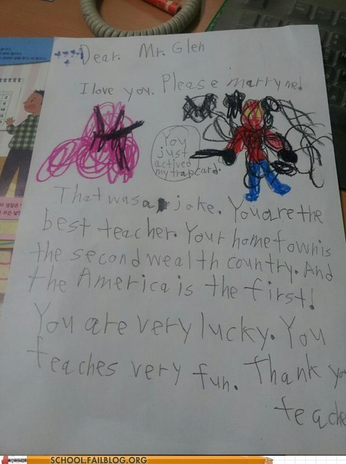 kids love letter marrying first graders - 6330248960