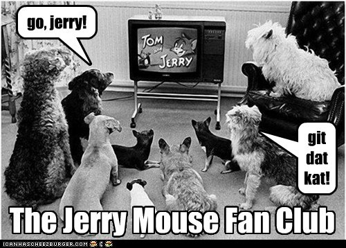 dogs fan club television Tom and Jerry