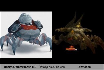 Henry J. Waternoose III Totally Looks Like Azmodan
