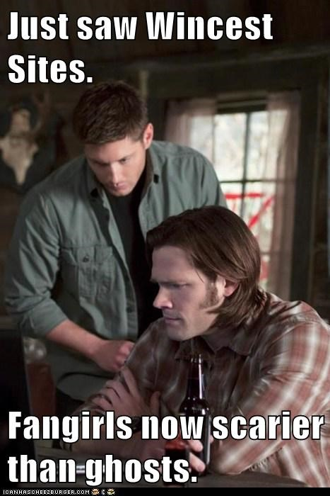 dean winchester fanfiction fangirls ghosts Jared Padalecki jensen ackles sam winchester scarier slash fiction stories Supernatural - 6331021312