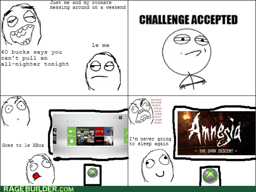 amnesia,bet,Challenge Accepted,Rage Comics,video games
