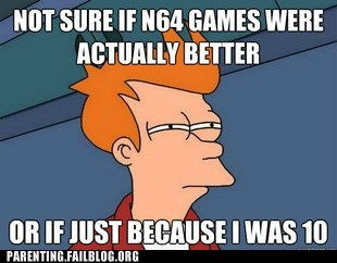 fry meme futurama n64 nintendo video games