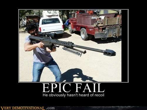 black eye epic fail idiots recoil