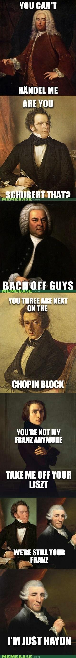 composers friends Memes Music puns treble - 6331554048