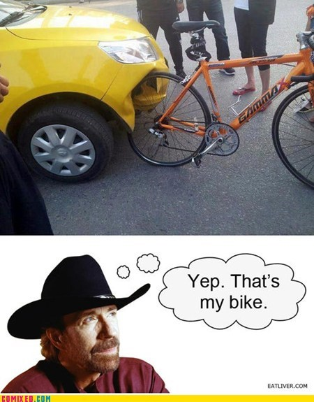 accident,best of week,bike,chuck norris joke,taxi,the internets