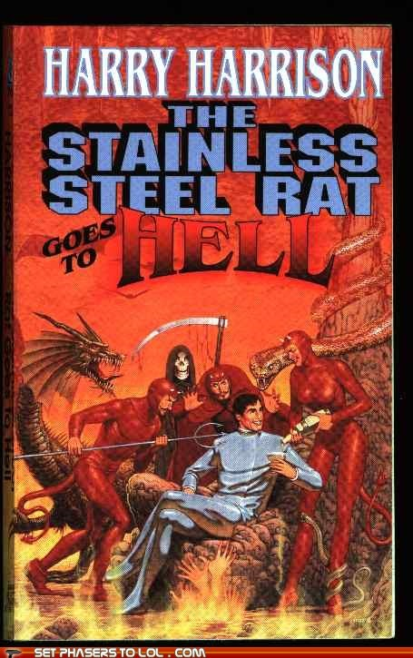 book covers books devils hell rat science fiction stainless steel wtf