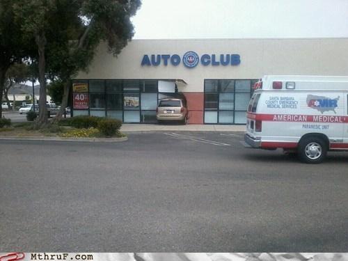 auto club car crash crash