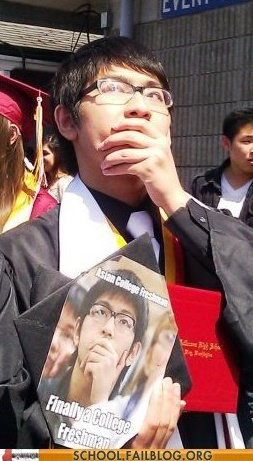 asian college freshman graduated memes IRL - 6331782912