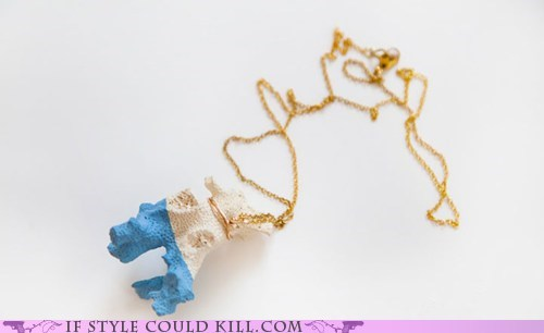 cool accessories coral necklaces ocean - 6331784704
