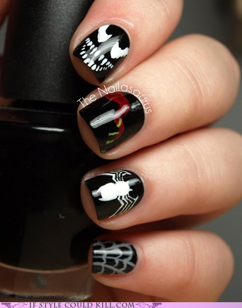 comics cool accessories geek chic nail art nails Spider-Man - 6331900672