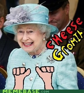 cheese,crackers,gromit,Memes,the queen,wallace