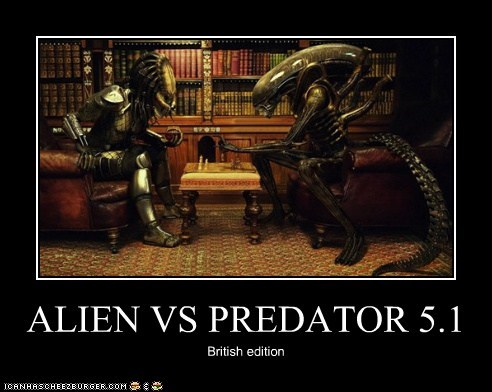 alien vs predator,Aliens,avp,British,chess,civilized,Predator,safe,vs