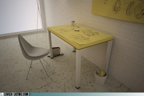 doodle paper post its table - 6332014080