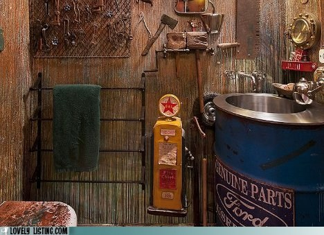 bathroom decor Steampunk vintage - 6332033024