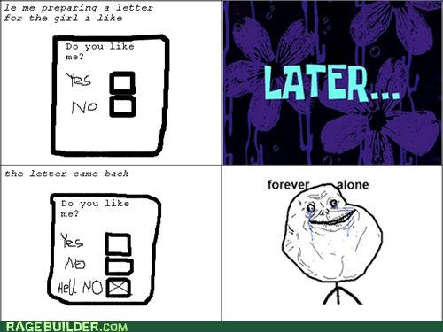 forever alone love letter Rage Comics relationships - 6332081920