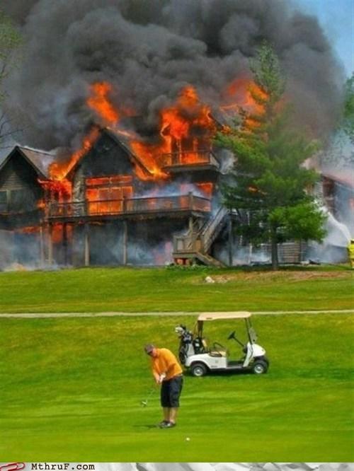 fire,golf,golfing