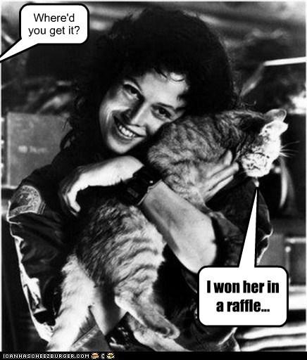Aliens cat Ellen Ripley josie raffle sigourney weaver won - 6332309248
