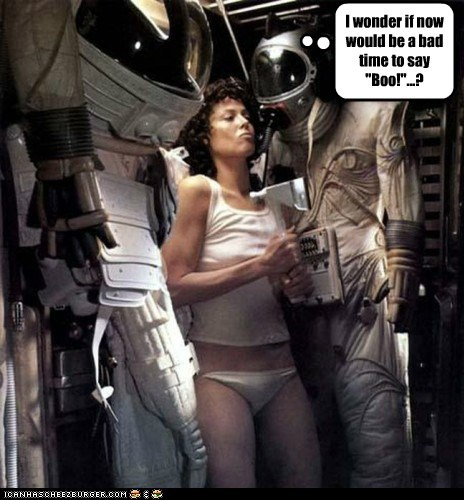 alien Aliens bad time boo Ellen Ripley Ridley Scott scary sigourney weaver