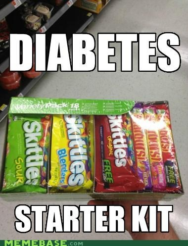 obesity diabetes starter kit skittles sugar candy - 6332376576