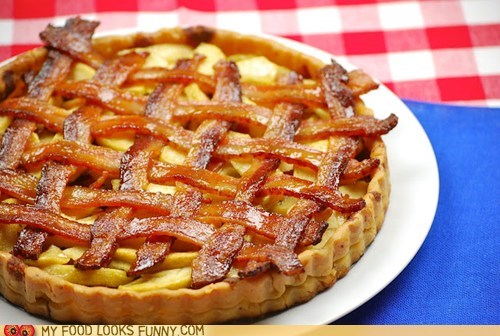apple bacon lattice pie tart - 6332464896